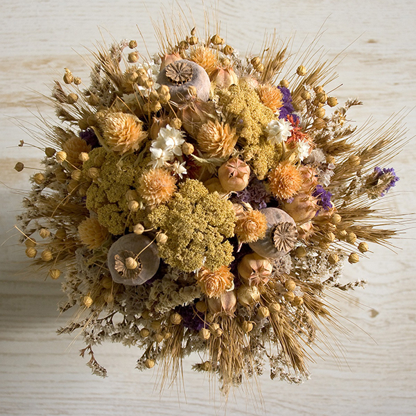 To dry flowers for indoor arrangements, cut before they reach full bloom.