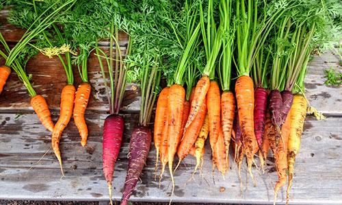 Scrub carrots, don't peel them before eating.