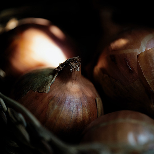 Do not remove the outer skins on onion, shallots and garlic when storing them for the winter.